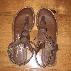 AMERICAN EAGLE Brown Ankle Strap Sandal